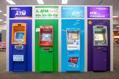 Линия красочного ATM в лобби Стоковые Изображения RF