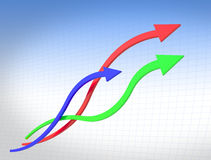 линия кривого диаграммы Стоковая Фотография