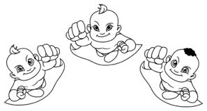 Линия летая искусство младенцев бесплатная иллюстрация