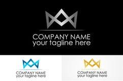 линия логотип crownd металлический стоковое изображение rf