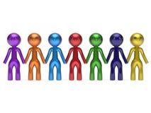 Линия люди социальной сыгранности характера друзей сети цепная Стоковые Фотографии RF