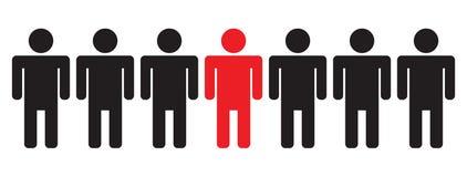 линия люди Стоковая Фотография