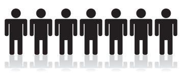 линия люди Стоковое фото RF