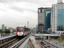 Линия Малайзии LRT Ampang Стоковое Изображение