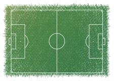 Линия масштаб Greensward белая футбола футбола Стоковая Фотография