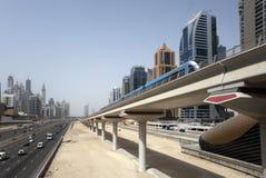 линия метро Дубай Стоковое Изображение