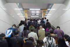 Линия метро метро в Чэнду Стоковое Фото