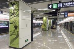 Линия 3 метро метро Чэнду Стоковое Изображение