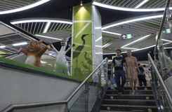 Линия 3 метро метро Чэнду Стоковое Фото