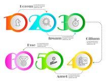 Линия минимальный шаблон дизайна Infographic бесплатная иллюстрация
