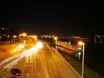 Линия мост на легкие грузы стоковые фотографии rf