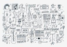 Линия музыка doodle Стоковое Фото