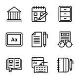 Линия набор Copywriting векторов бесплатная иллюстрация
