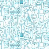 Линия набор thine садовых инструментов значков бесплатная иллюстрация