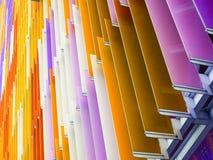 Линия наклона листа пластической массы на основе акриловых смол внутренние и purp апельсина дна Стоковые Изображения RF