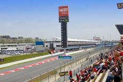 линия начала 9 barcelona может участвующ в гонке s Стоковые Фото