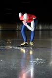 линия начинать скорости конькобежца Стоковая Фотография