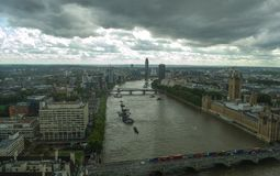 Линия неба Лондона bigben Стоковые Изображения