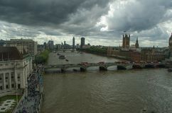 Линия неба Лондона bigben Стоковые Фотографии RF