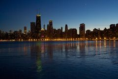 Линия неба Чикаго стоковое изображение rf