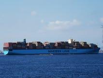 Линия несущая Maersk контейнера стоковое изображение