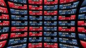 Линия новостей доски тиккера товара рыночного индекса фондовой биржи валют на черной предпосылке - новом качественном финансовом  бесплатная иллюстрация