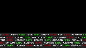 Линия новостей тиккера фондовой биржи валют на черной предпосылке - новое качественное финансовое дело одушевило динамическое вид бесплатная иллюстрация