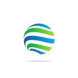 Линия логотип глобуса технологии absract сферы Стоковое Изображение RF