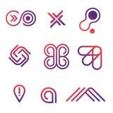 Линия логотип значков вектора Стоковое Изображение