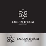Линия логотип конспекта цветка Стоковое Изображение