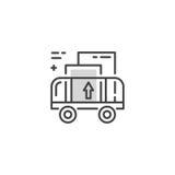 Линия логотип тележки груза Стоковые Изображения RF