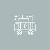 Линия логотип тележки груза Стоковое Изображение RF