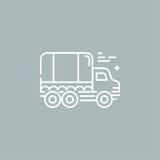 Линия логотип тележки Стоковое Изображение