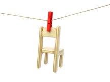 линия одежд стула суша деревянная Стоковое Фото