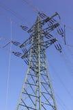 линия опора электрического оборудования силы Стоковое Фото