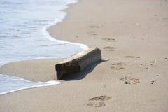 Линия дороги моря солнца песка стоковая фотография
