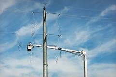 линия передача конструкции электрическая Стоковое Фото
