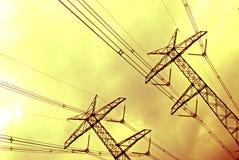 Линия передачи tower Стоковые Фотографии RF