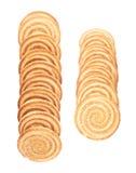 Линия печений изолированных над белой предпосылкой Стоковые Фото