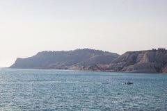 Линия побережья Агриджента, Сицилия Стоковое Фото