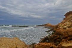 Линия побережья скалы Стоковое фото RF
