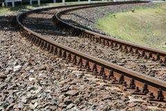 линия поворачивать railway Стоковое Изображение