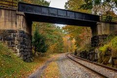 Линия поезда Западной Вирджинии осени Стоковая Фотография RF