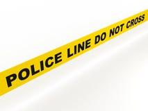 Линия полиций не пересекает Стоковая Фотография