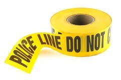 линия полиция злодеяния связывает тесьмой Стоковые Фото