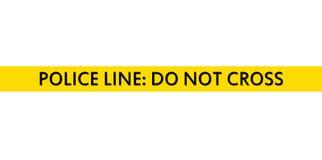 линия полиция связывает тесьмой Стоковое Фото