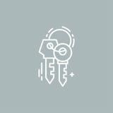 Линия пользуется ключом логотип Стоковые Изображения RF