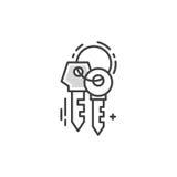 Линия пользуется ключом логотип Стоковая Фотография RF