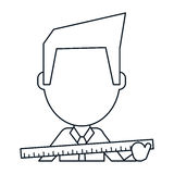 Линия правителя конструкции человека Architec большая тонкая Стоковое Изображение RF