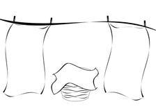 линия прачечного Стоковые Фотографии RF
